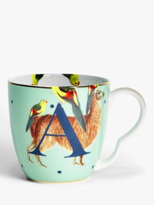Bone China Alphabet Mug - 'A'