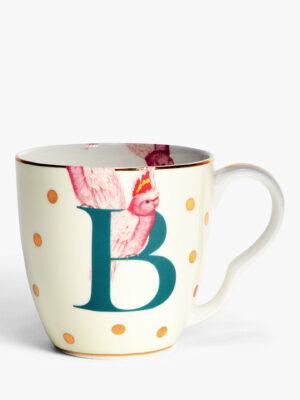 Bone China Alphabet Mug - 'B'