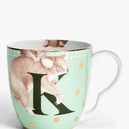 Bone China Alphabet Mug - 'K'