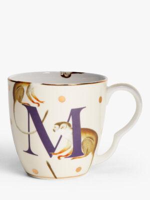 Bone China Alphabet Mug - 'M'