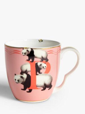 Bone China Alphabet Mug - 'P'