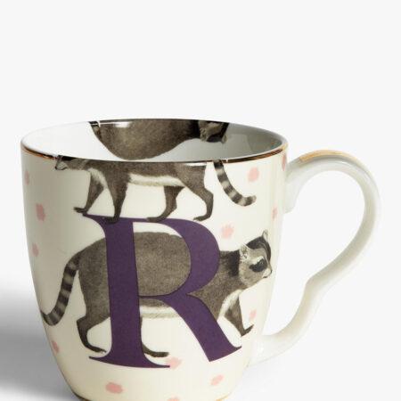 Bone China Alphabet Mug - 'R'