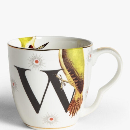 Bone China Alphabet Mug - 'W'