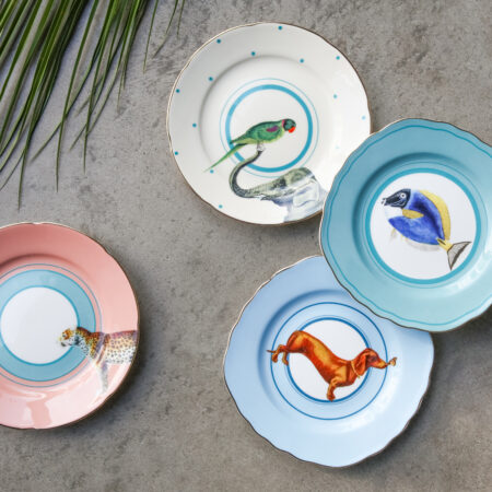 Colourful Animal, Fish and Parrot Cake Plates