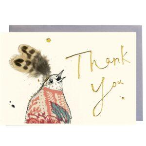 Bird Thank You Gold Card