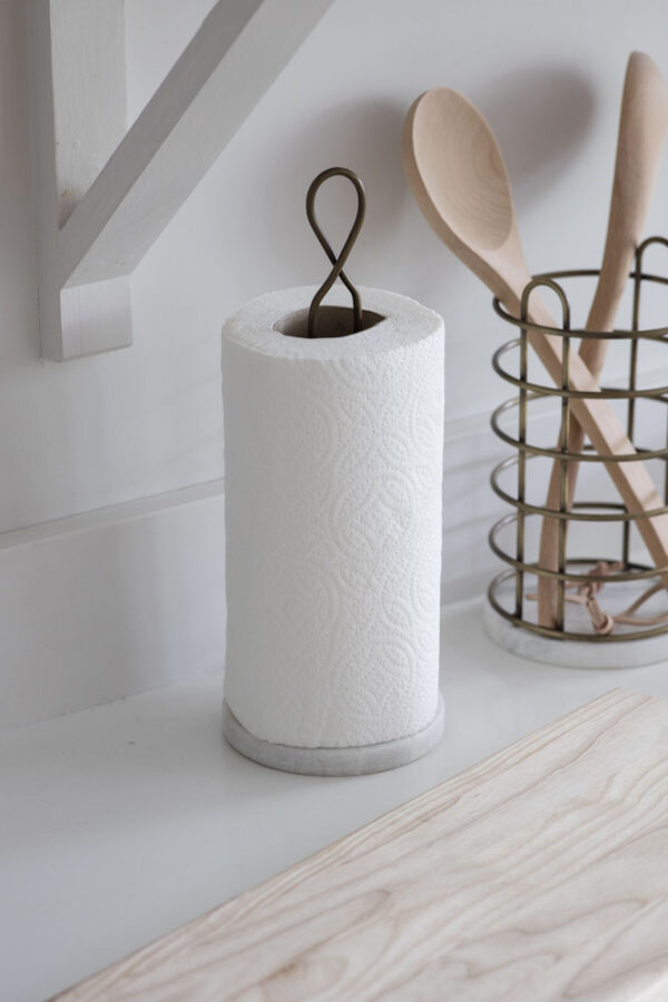 Brompton Kitchen Roll Holder with Marble Base