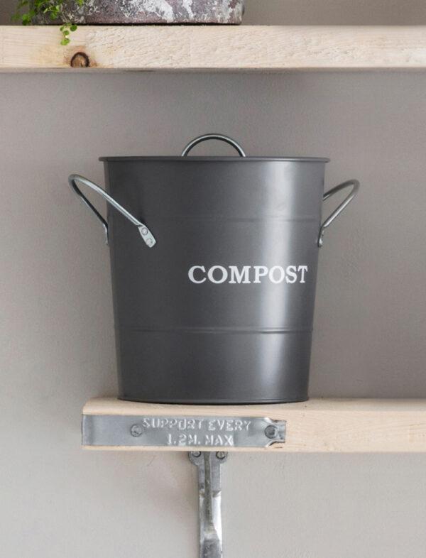 Charcoal Countertop Compost Bucket