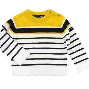 FABULEUX Jumper - Navy & Yellow stripes