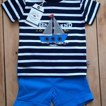 FREGATE Blue shorts set