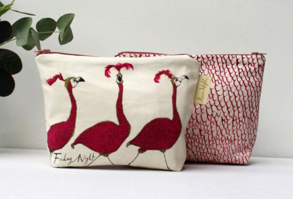 Friday Night Flamingo Make up Bag
