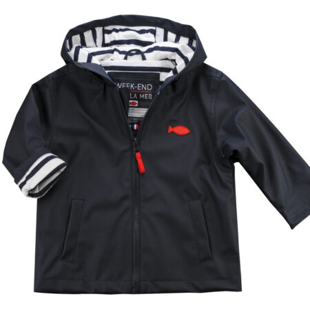 HOBY Cotton Lined Jacket - Navy