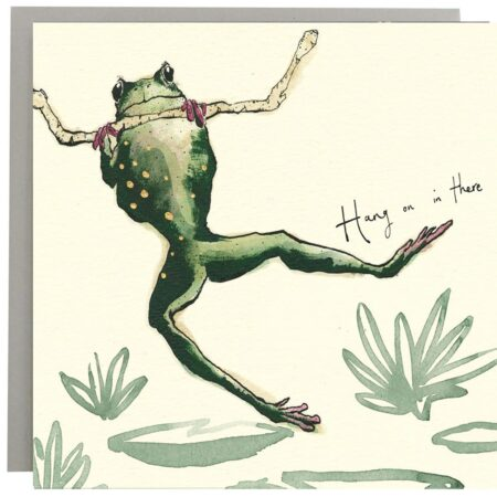 Hang In There Frog Card