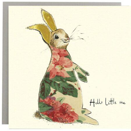 Hello Little One Bunny Card