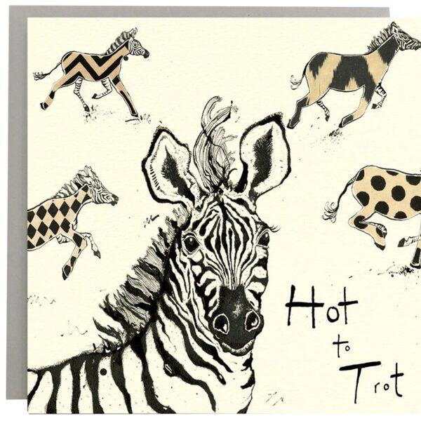 Hot To Trot Zebra Card