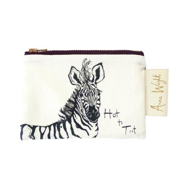 Hot to Trot Zebra Coin Purse