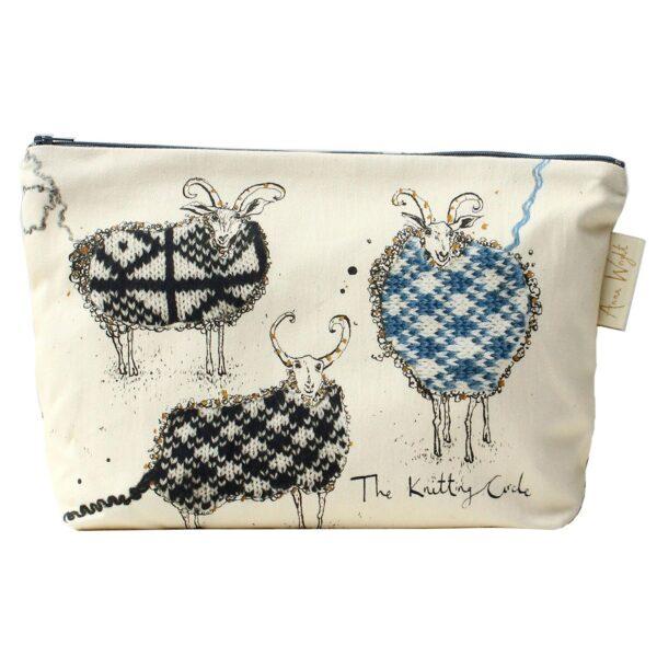 Knitting Circle Sheep Wash Up Bag