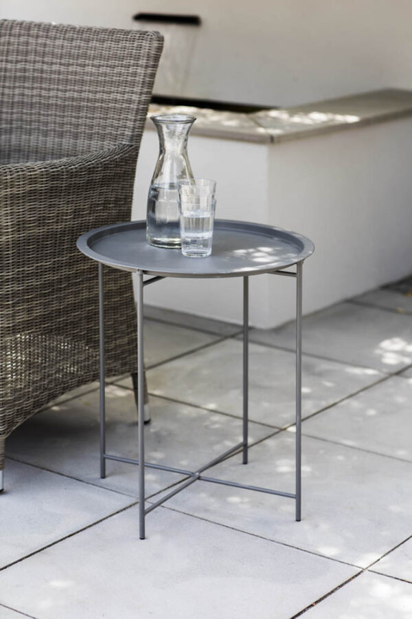 Charcoal Rive Droite Round Bistro Tray Table