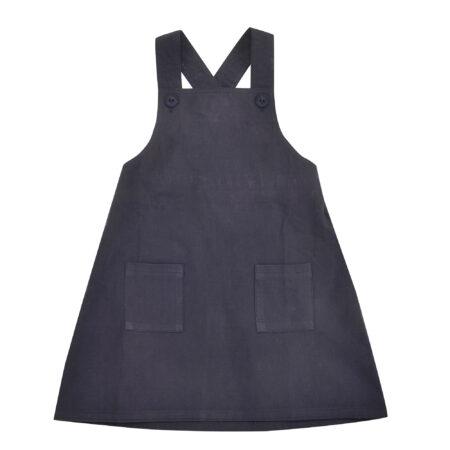 Apron Dress - Navy