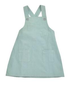 Corduroy Apron Dress - Turquoise