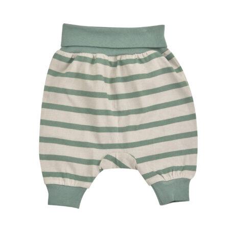 Breton Stripe Baby Joggers - Pebble/Ivy