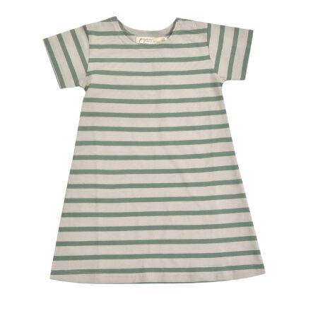 Breton Dress - Pebble/Ivy