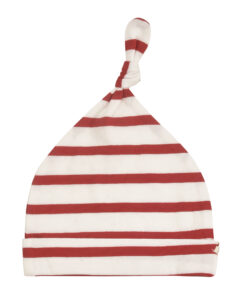 Breton Stripe Knotted Hat - White/Red