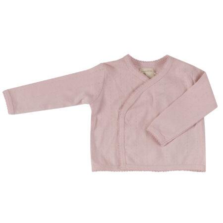 Pointelle Kimono Jacket - Pink