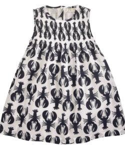 Lobster Sleeveless Smock Dress - Navy