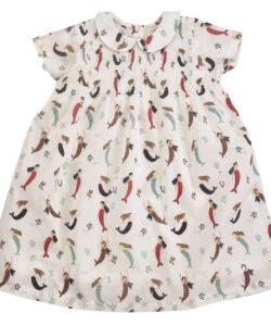 Mermaids Peter Pan Collar Smock Dress