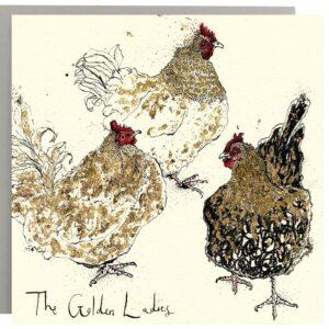 The Golden Ladies Chicken Card