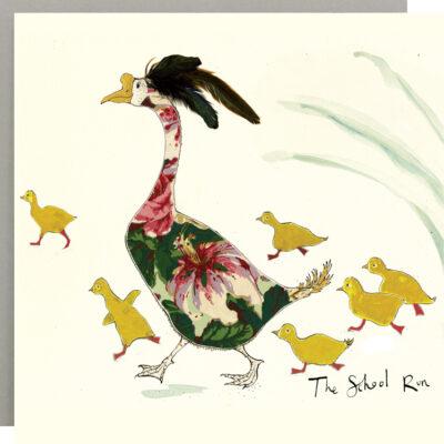 The School Run Ducks Card