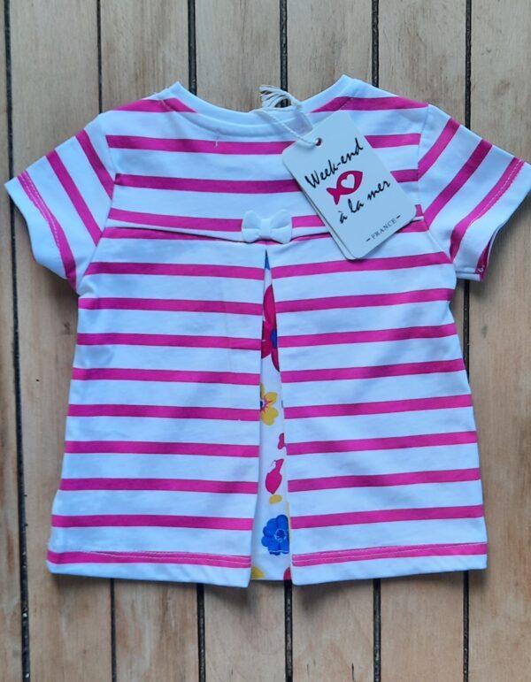 Ladyweek T-shirt pink & white