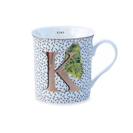 Yvonne Ellen Gold Edition Mug 'K'