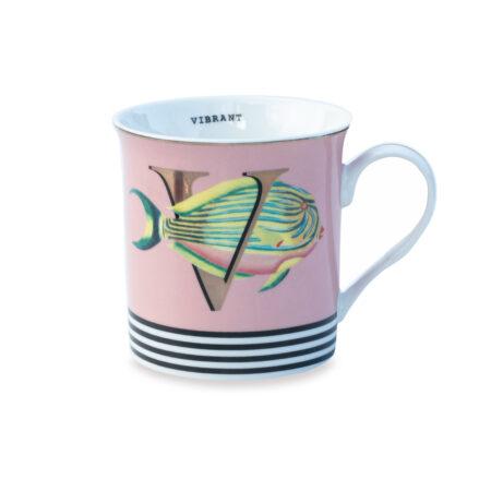 Yvonne Ellen Gold Edition Mug 'V'