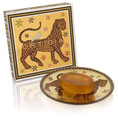 Gattopardo glass plate and soap