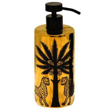Amber Nera Liquid Soap & Gold Ceramic Dispenser