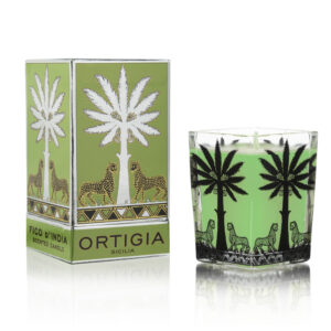 Fico large square glass candle