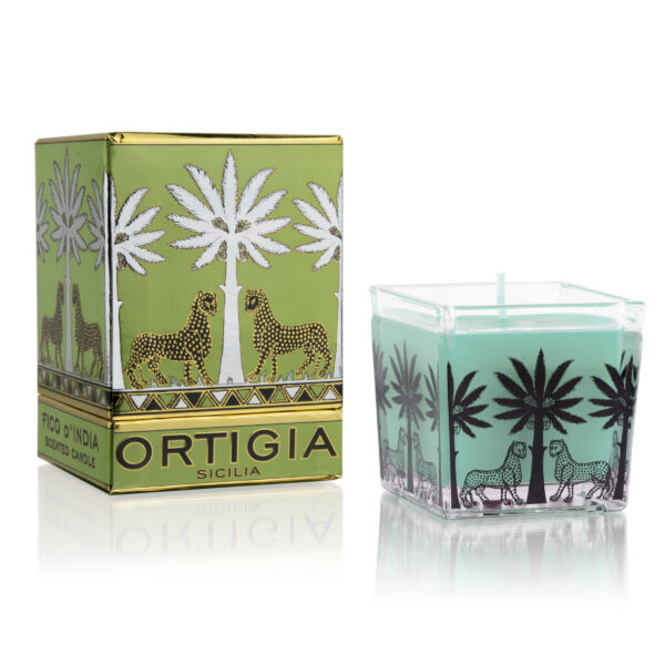 Fico square glass candle
