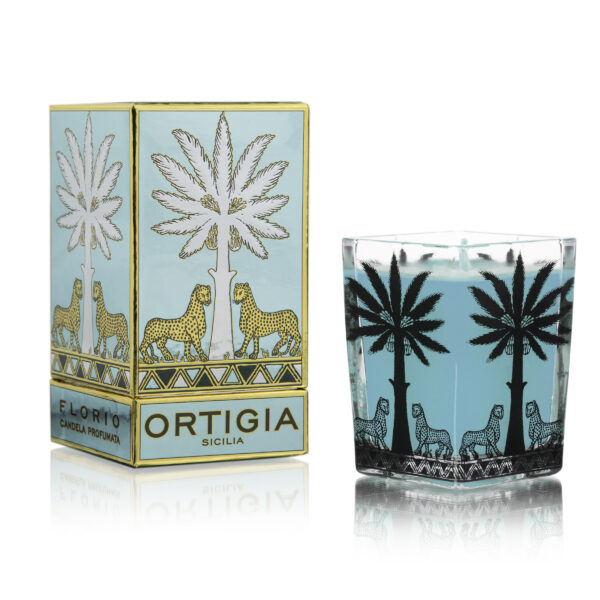 Florio large square glass candle