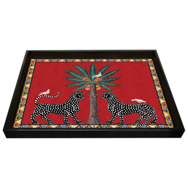 Tray mosaic red