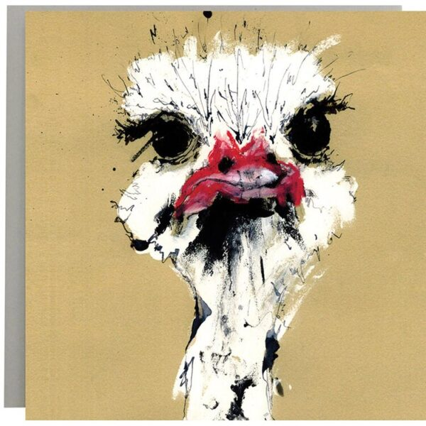 Ostrich card by Anna Wright