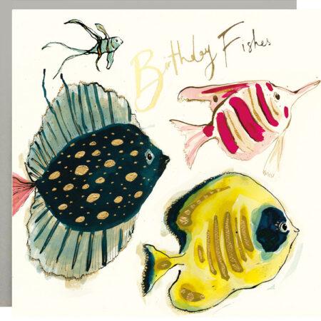 Birthday Fishes Fish Card