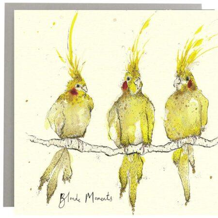 Blonde Moments Bird Card