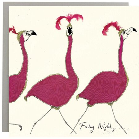 Friday Night Flamingo Card