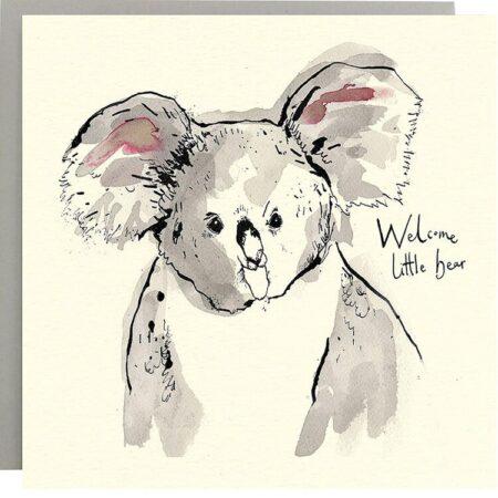 Welcome Little Bear Card